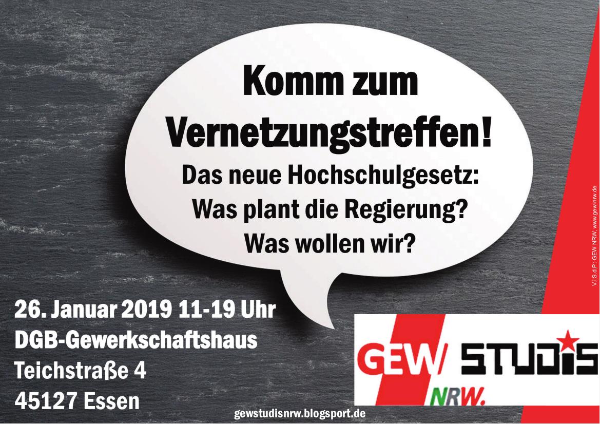 Sa., 26.1.2018, 11 Uhr<br /> DGB-Haus Essen (Teichstraße 4, direkt am Essener Hbf.)